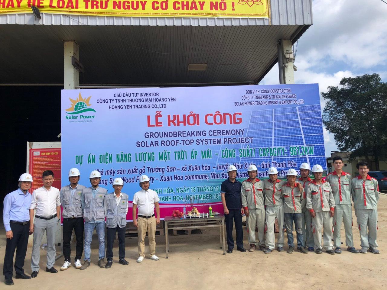 Thanh Hoá: Solar Power khởi công dự án điện năng lượng mặt trời áp mái